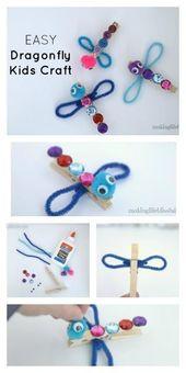 Clothepin Dragonfly Craft för barn   Att göra livet lyckligt