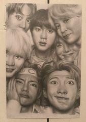 BTS Pencil Drawing