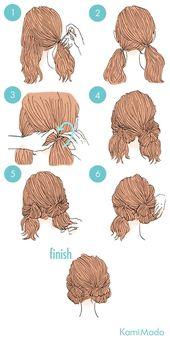 Tutoriels pour toutes les occasions de coiffure - pas plus de 5 minutes nécessaires