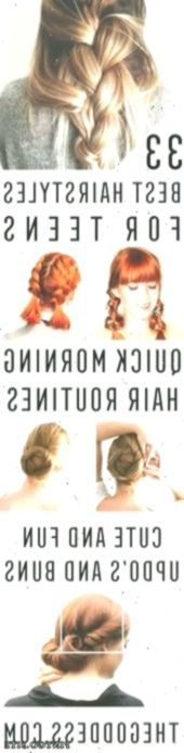 Quick and easy hairstyles for school: best hairstyles for teenagers simple and cute …..