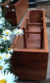 NOW Available in 36″ High, Tall Modern Mahogany Planter Boxes, Mid Century Modern, Free Shipping, Outdoor Planter Box, Vegetable Garden