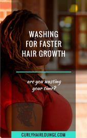 Washing For Quicker Hair Development