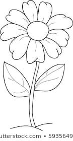 Flowers Coloring Book Images Stock Photos Vectors Shutterstock Black And White Flower Clipart Flower Child Cartoon Flowers Flower Illustration Flower Drawing