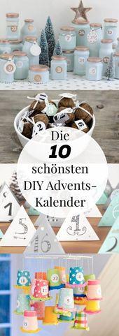 Adventskalender basteln – 10 kreative Bastelideen