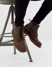 Dr Martens 939 6 eye boots in brown leather