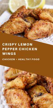 Knusprige Zitronenpfeffer Chicken Wings