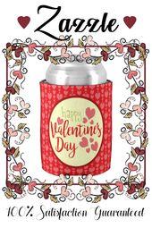 Valentinstag kann kühler rote und rosa Herzen   Zazzle   – Love and Valentines
