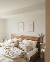neutral minimalist modern bedroom decor …