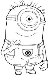 Step 097 How to Draw Kevin the Minion from Despicable Me with Easy