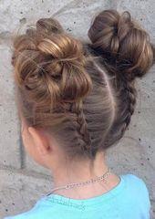 Frisuren für die Schule Frisuren für die Schule Tolle Frisuren für Kinder #Kom …
