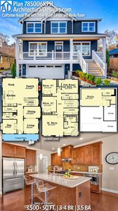 Plan 785006KPH: Craftsman House Plan with Drive-Under Garage and Media Room
