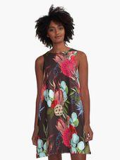 Retro Blumen Rosen + Muster Grafikart Design