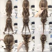 Simple hairstyles step by step – simple and quick ideas – decoration ideas – my blog