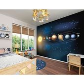 Brewster Planets Wall Mural