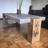 30+ Attractive Concrete Coffee Table Design Ideas You Must Try