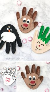 Handprint Salt Dough Christmas Ornaments