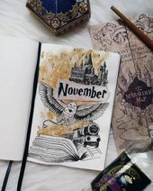 17 Harry Potter Bullet Journal Spreads That Are Magical – TheFab20's
