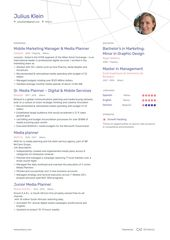 Media Planner Resume Example and guide for 2019