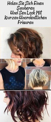 Get a clean one   And Sweet Look With Short Messy Hairstyles