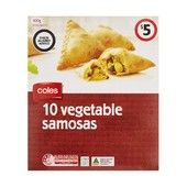 Coles Vegetable Samosas 10 Pack 300g Everyday Product