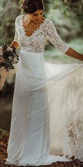 39 Boho bröllopsklänningar för din dröm