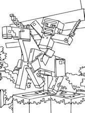 minecraft steve malvorlagen gratis