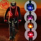360 Reflective Led Flash Driving Vest High Visibility Night Running Cycling Unbranded Cycle Ride Safety Vest Reflective