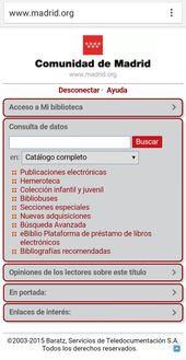 Red De Bibliotecas De La Comunidad De Madrid Comunidad De Madrid Libro Electrónico La Comunidad