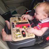 Beschäftigt Brett Aktivität Brett Montessori Spielzeug Holzspielzeug sensorische Brett Riegel Brett Kleinkind lernen Spielzeug Busyboard pädagogisches Spielzeug für junge Mädchen