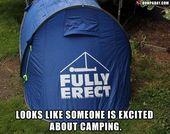 helt upprätt, tält, camping, roliga bilder – Dump A Day
