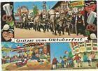 6 HORSE HITCH LOWENBRAU HORSE WAGON MUNICH OKTOBERFEST GERMANY POSTCARD #Postcar…