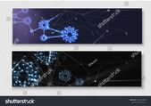 Connection abstract banners with blue led shiny gears and digital network pattern. Engineering, science, technology settings. Vector background.r #Ad…