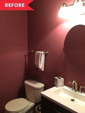 Before and After: This High-Impact Powder Room Overhaul Cost Just $65 (!!!)
