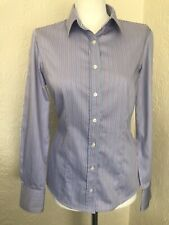 Austin Reed Ladies Pin And Blue Shirt Size 12 Blue Long Sleeve Shirt Blue Shirt Austin Reed