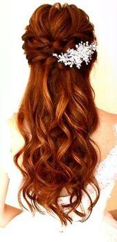 wedding hairstyle half open | bride hairstyle half open || bride… – Ladies hair … – My blog