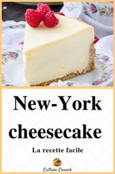 New York cheesecake: the easy recipe #dessertlegerfacile #cuisine #recipes # …