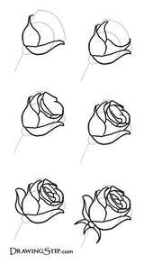 Gepinnt von www.SimpleNailArt … TUTORIALS: NAGELKUNST DESIGN-IDEEN -Wie zeichnet man Ros