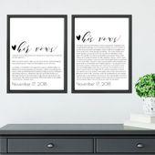Benutzerdefinierte Gelübde, benutzerdefinierte Hochzeit Gelübde, Herr und Frau Gelübde, Geschenk für ihren Ehemann Geschenk, Frau Geschenk, Gelübde Kalligraphie, Geschenk für Ehemann, druckbare Gelübde