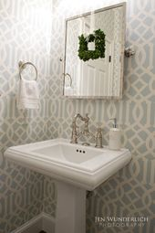 so cute for half bath Traditional Home Dining R…