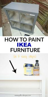 How To Paint IKEA Furniture (in 5 easy steps)