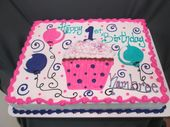 1. Geburtstag Mädchen Blatt Kuchen | 25+ beste Ideen für Geburtstagskuchen auf Anstecknadel   – Food