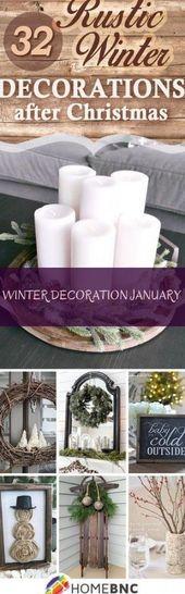 Winter decoration January – #januar #Winter decoration – decoration – #Dekoratio…