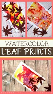 Leaf Prints with Watercolor