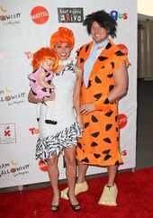 Melissa Rycroft and Tye Strickland as Wilma and Fred Flintstone