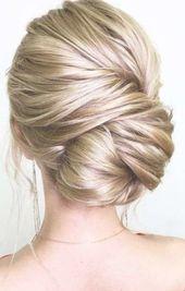 Trendy Wedding Hairstyles Updo Side Messy Brides 55+ Ideas #wedding #hairstyles