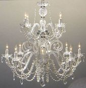 Alyce 12-Light Candle Style Tiered Chandelier
