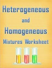 Heterogeneous And Homogeneous Mixtures Worksheet Photos ...