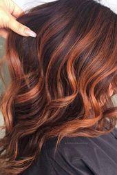 Charmante und schicke Optionen für braunes Haar mit Highlights ★   – Cheveux