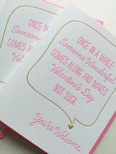Lustige Valentinstagkarte. Sarkastische Valentinstagkarte. Valentinsgrußkarte für Freund, Vati, Baby   – Products