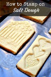 Stamping on Salt Dough